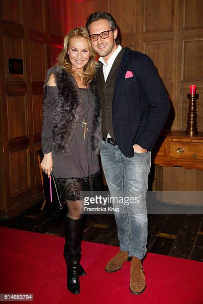 Caroline Beil and Philpp Sattler attend the JT Touristik Celebrates ITB Party on March 10 2016 in Berlin Germany