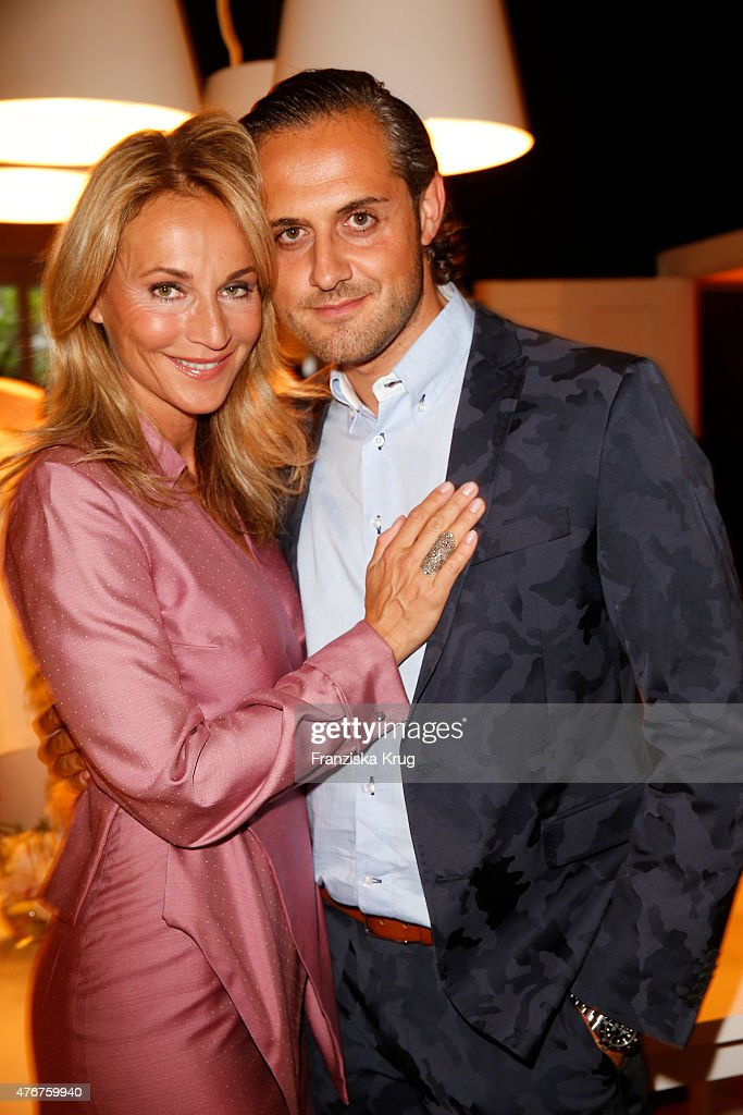 Caroline Beil and Philpp Sattler attend the 'Lobby for a Weekend' Cocktail Prologne In Berlin on June 11 2015 in Berlin Germany