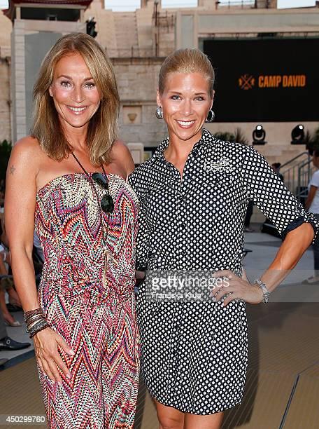 Caroline Beil and Tanja Schewtschenko attend the 'Fashion World Camp David und Soccx' Store Opening on June 08 2014 in Rust Germany