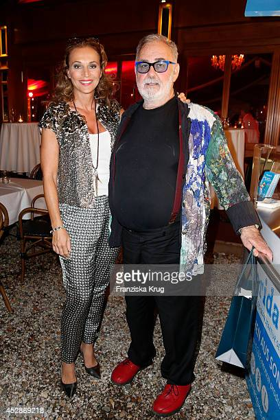 Caroline Beil and Udo Walz attend the Udo Walz Celebrates His 70th Birthday at BAR jeder Vernunft on July 28 2014 in Berlin Germany