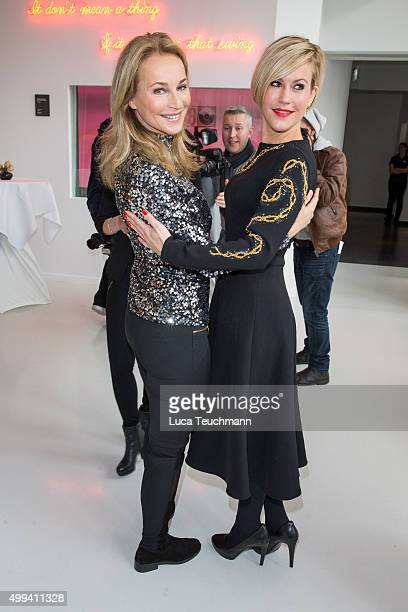 Caroline Beil and Wolke Hegenbarth attend DKMS Life Charity Ladies Lunch at Ellington Hotel on December 1 2015 in Berlin Germany