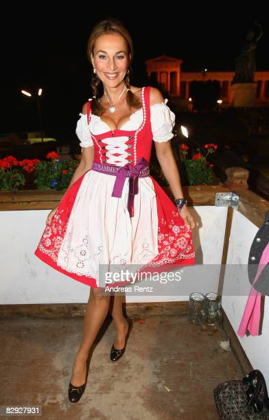 Caroline Beil attends a party at Kaefers at the Oktoberfest beer festival on September 20 2008 in Berlin Germany
