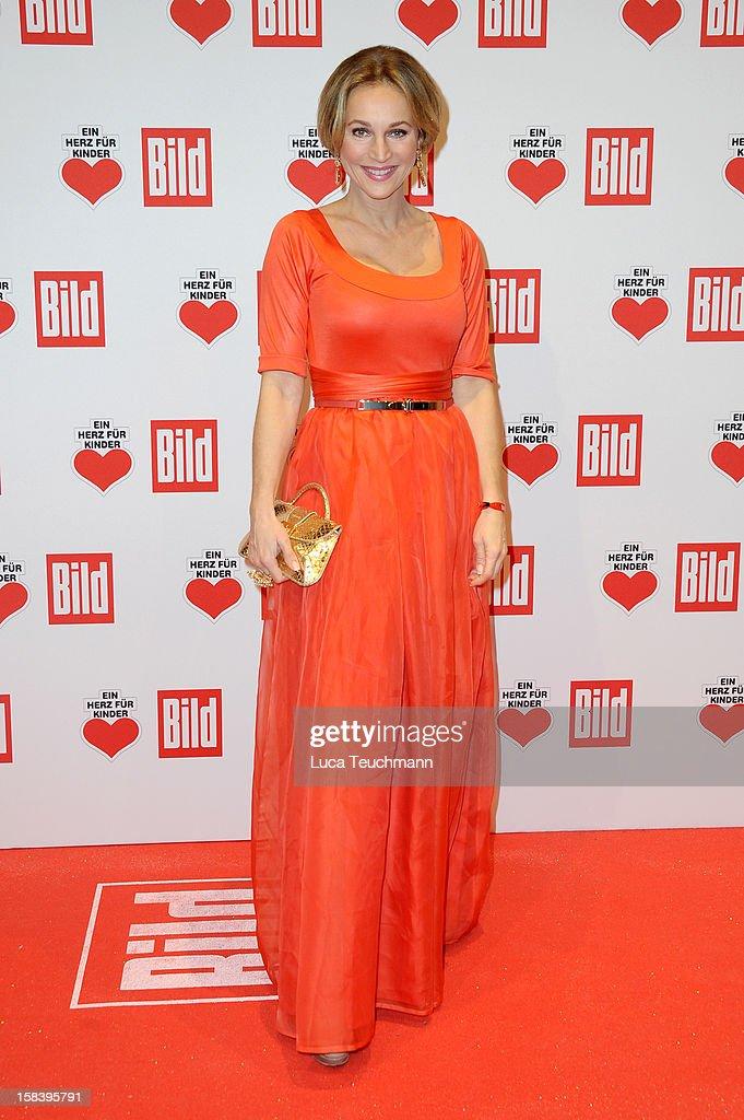 Caroline Beil attends 'Ein Herz Fuer Kinder Gala 2012' Red Carpet Arrivals at Axel Springer Haus on December 15 2012 in Berlin Germany
