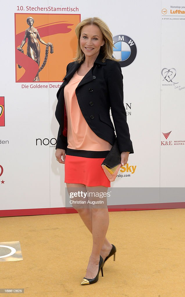 <a gi-track='captionPersonalityLinkClicked' href=/galleries/search?phrase=Caroline+Beil&family=editorial&specificpeople=226721 ng-click='$event.stopPropagation()'>Caroline Beil</a> attends the charity event 'Die Goldene Deutschland' at MS Deutschland on May 12, 2013 in Hamburg, Germany.