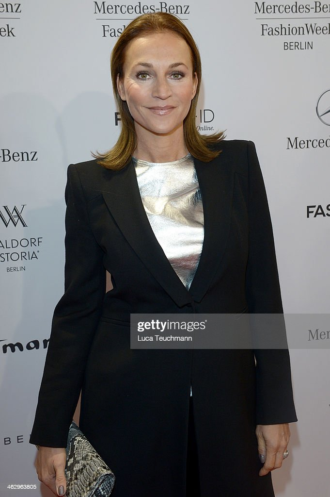 Caroline Beil attends the Glaw show during MercedesBenz Fashion Week Autumn/Winter 2014/15 at Brandenburg Gate on January 16 2014 in Berlin Germany