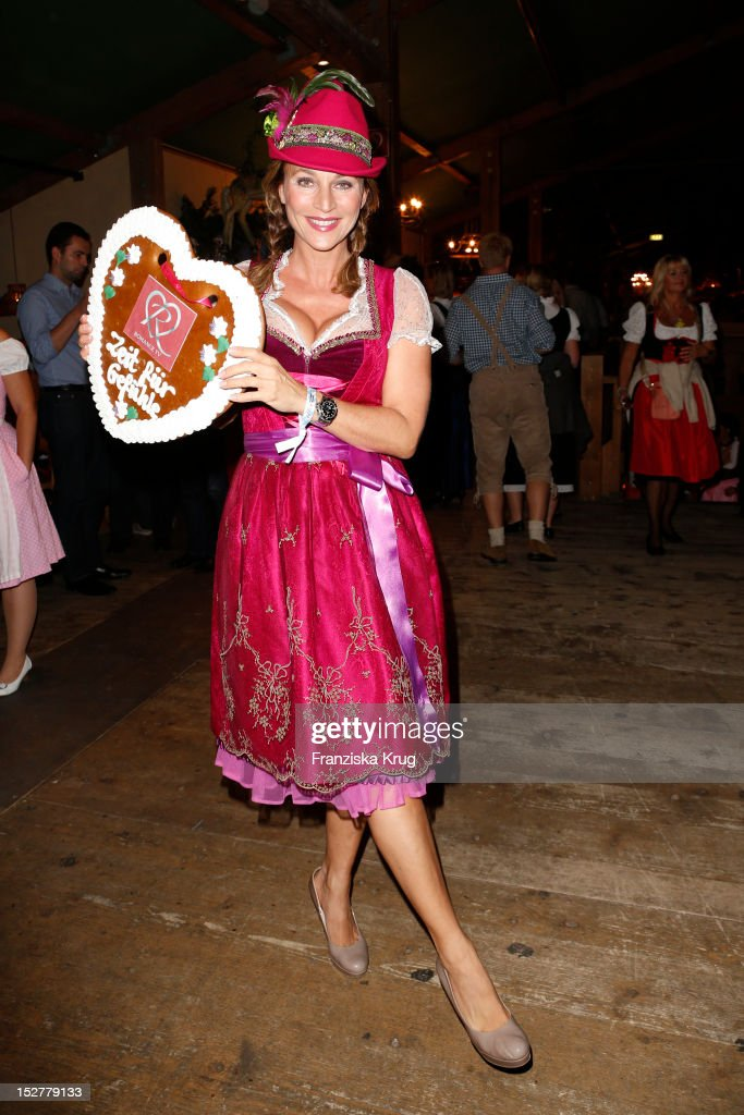 Caroline Beil attends the 'Goldstar TV Wiesn' as part of the Oktoberfest beer festival at Weinzelt on September 25 2012 in Munich Germany