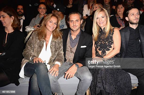 Caroline Beil Philipp Sattler and Jessica Stockmann attend the Irene Luft show during the MercedesBenz Fashion Week Berlin Autumn/Winter 2015/16 at...