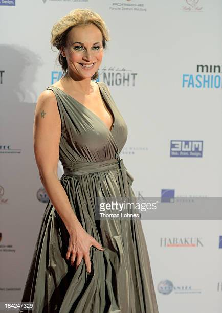 Caroline Beil poses at the red carpet during the Minx fashion night at Residenz on October 12 2013 in Wuerzburg Germany The benefit of the charity...