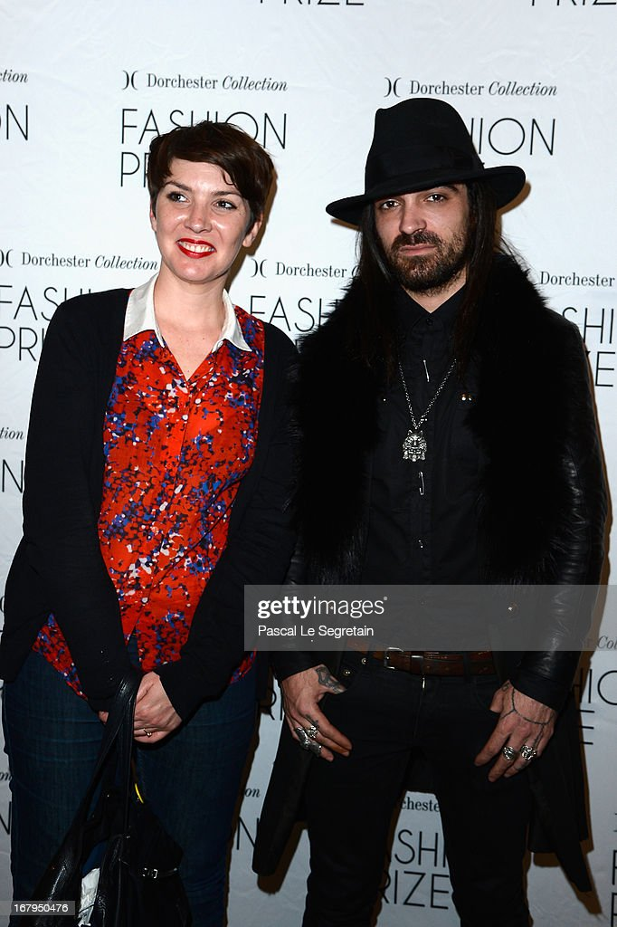Caroline Bonnet and Anthony Veron attend the 2013 Launch of the Dorchester Collection Fashion Prize 2013 at Hotel Plaza Athenee on May 3, 2013 in Paris, France.