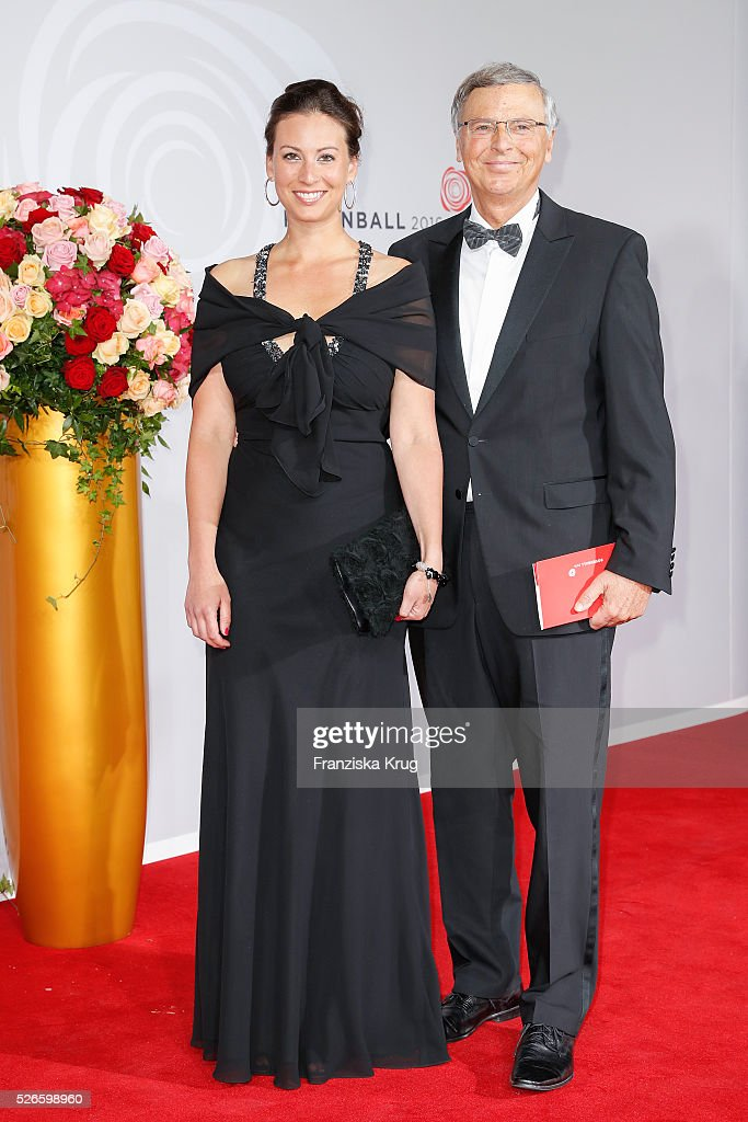 Caroline Bosbach and Wolfgang Bosbach attend the Rosenball 2016 on April 30 in Berlin, Germany.
