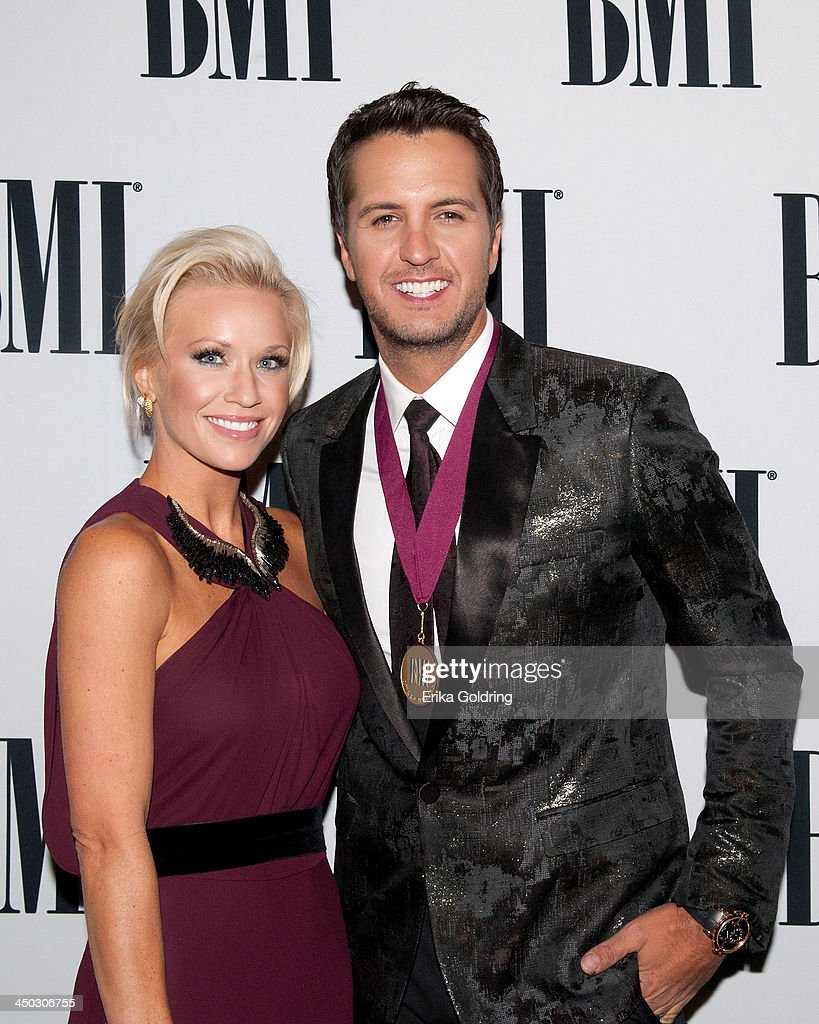 Caroline Boyer and <a gi-track='captionPersonalityLinkClicked' href=/galleries/search?phrase=Luke+Bryan&family=editorial&specificpeople=4001956 ng-click='$event.stopPropagation()'>Luke Bryan</a> attend the 61st annual BMI Country awards on November 5, 2013 in Nashville, Tennessee.