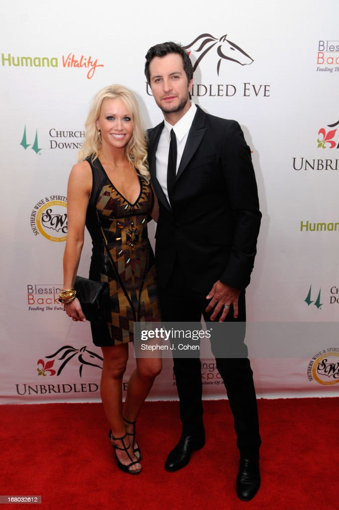 Caroline Boyer Bryan and Luke Bryan attend the Julep Ball 2013 during the 139th Kentucky Derby at The Galt House Hotel & Suites - Grand Ballroom on May 3, 2013 in Louisville, Kentucky.