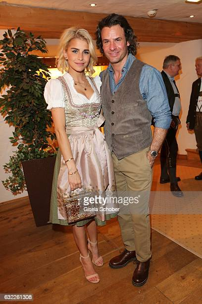 Caroline 'Caro' Daur and Stephan Luca during the Weisswurstparty at Hotel Stanglwirt on January 20 2017 in Going near Kitzbuehel Austria