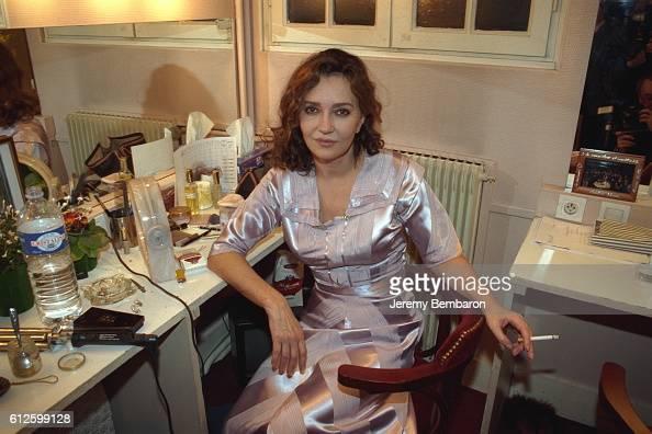 Caroline Cellier in her dressing room at the Eldorado Theater