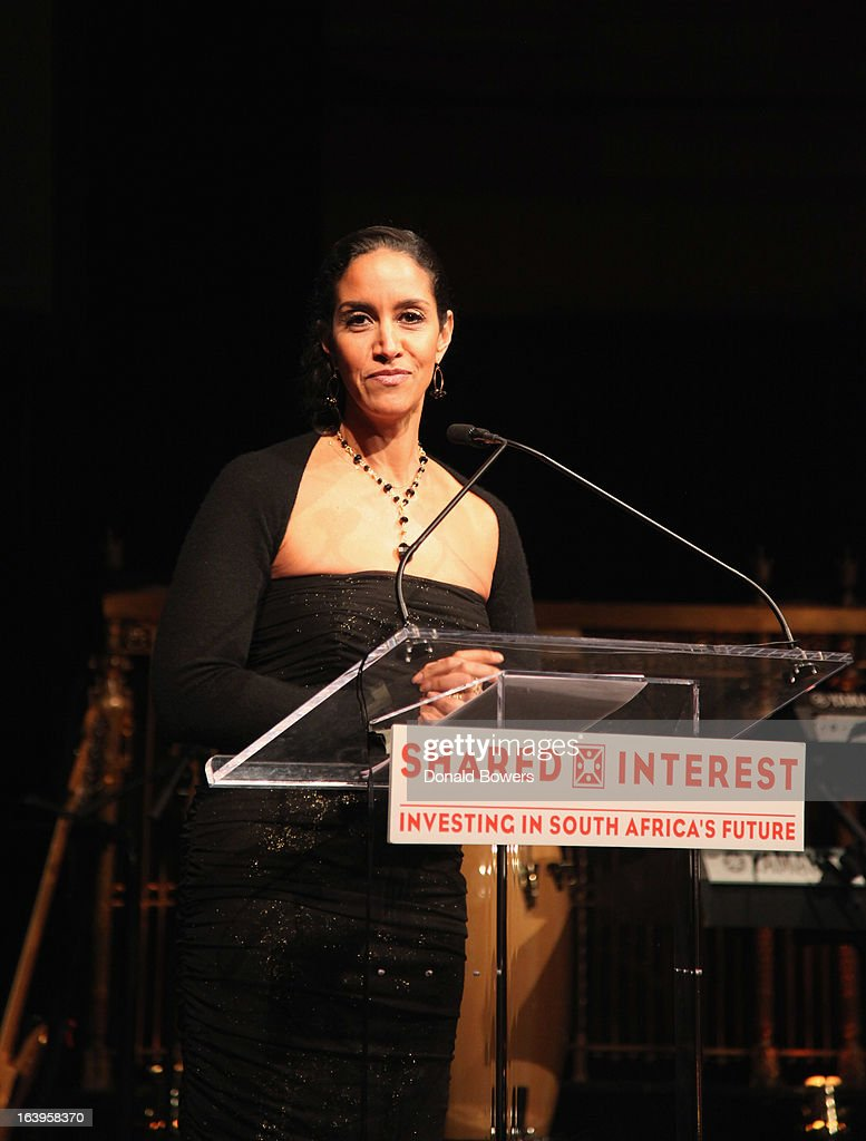 Caroline Clarke speaks onstage at the Shared Interest 19th Annual Awards Gala on March 18, 2013 in New York City.