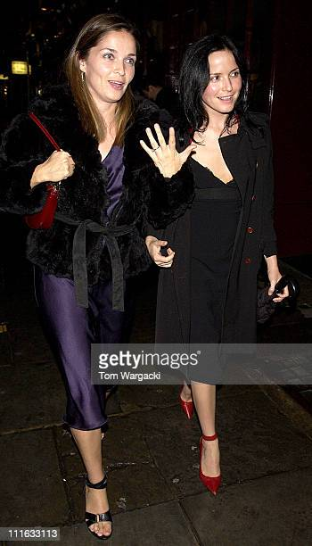 Caroline Corr and Andrea Corr during Celebrity Sightings at JK Sheekey in London October 12 2005 at JKSheekey in London Great Britain