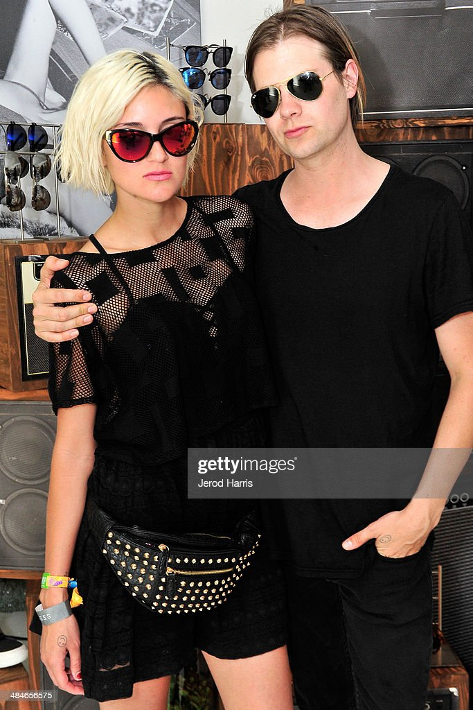 Caroline D'Amore and Bobby Alt attend the GUESS Hotel at the Viceroy Palm Springs on April 13, 2014 in Palm Springs, California.