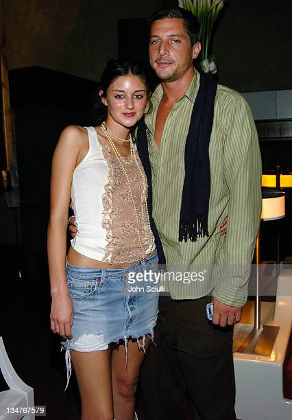 Caroline D'Amore and Simon Rex during 2nd Annual Lingerie Art Auction and Fashion Show Hosted by Fredericks of Hollywood Show at Hollywood Roosevelt...