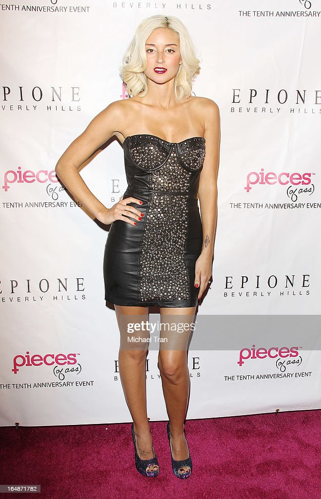 Caroline D'Amore arrives at 'Pieces(Of Ass)' opening night Los Angeles performance held at The Fonda Theatre on March 28, 2013 in Los Angeles, California.