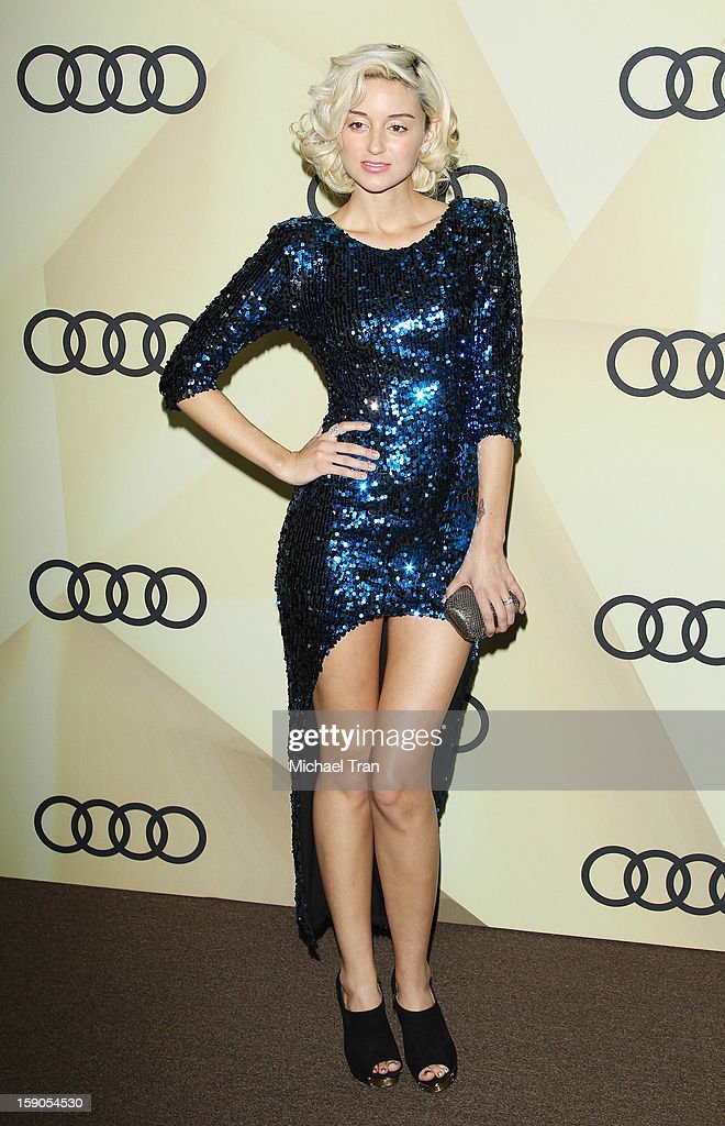 Caroline D'Amore arrives at the Audi Golden Globe 2013 kick off cocktail party held at Cecconi's Restaurant on January 6, 2013 in Los Angeles, California.
