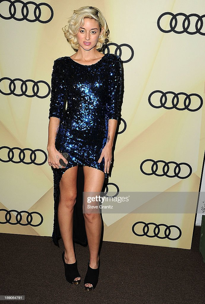 Caroline D'Amore arrives at the Audi Golden Globe 2013 Kick Off Cocktail Party at Cecconi's Restaurant on January 6, 2013 in Los Angeles, California.