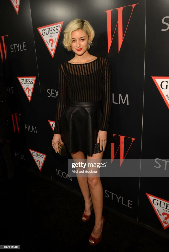 Caroline D'Amore attends '30 Years Of Fashion And Film And The Next Generation Of Style Icons' with W Magazine and GUESS at Laurel Hardware on January 8, 2013 in West Hollywood, California.