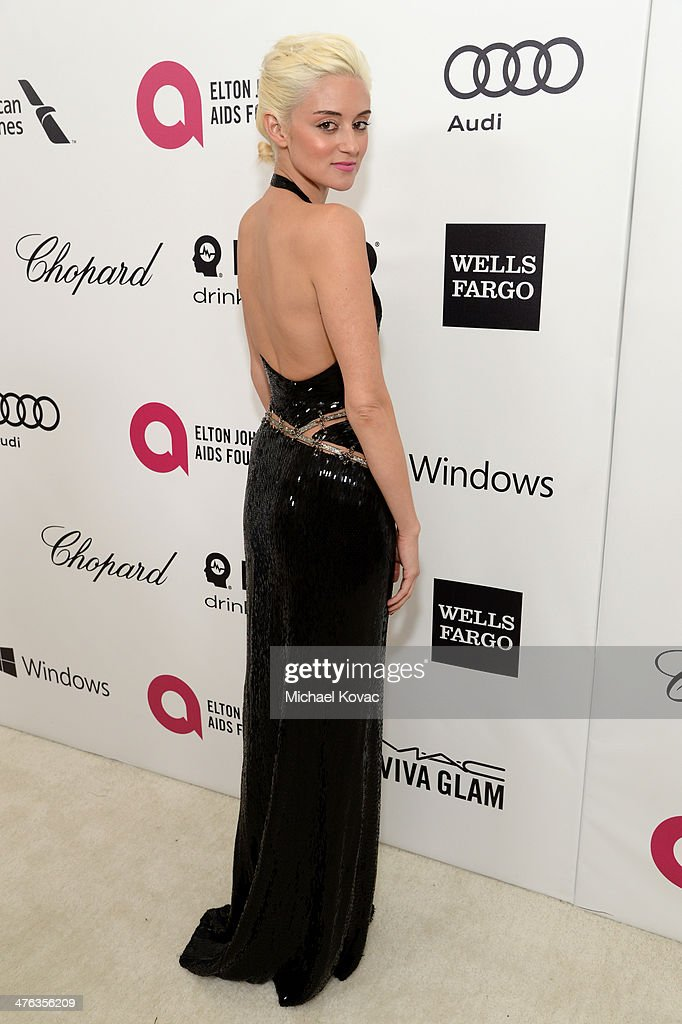 Caroline D'Amore attends the 22nd Annual Elton John AIDS Foundation Academy Awards Viewing Party at The City of West Hollywood Park on March 2, 2014 in West Hollywood, California.