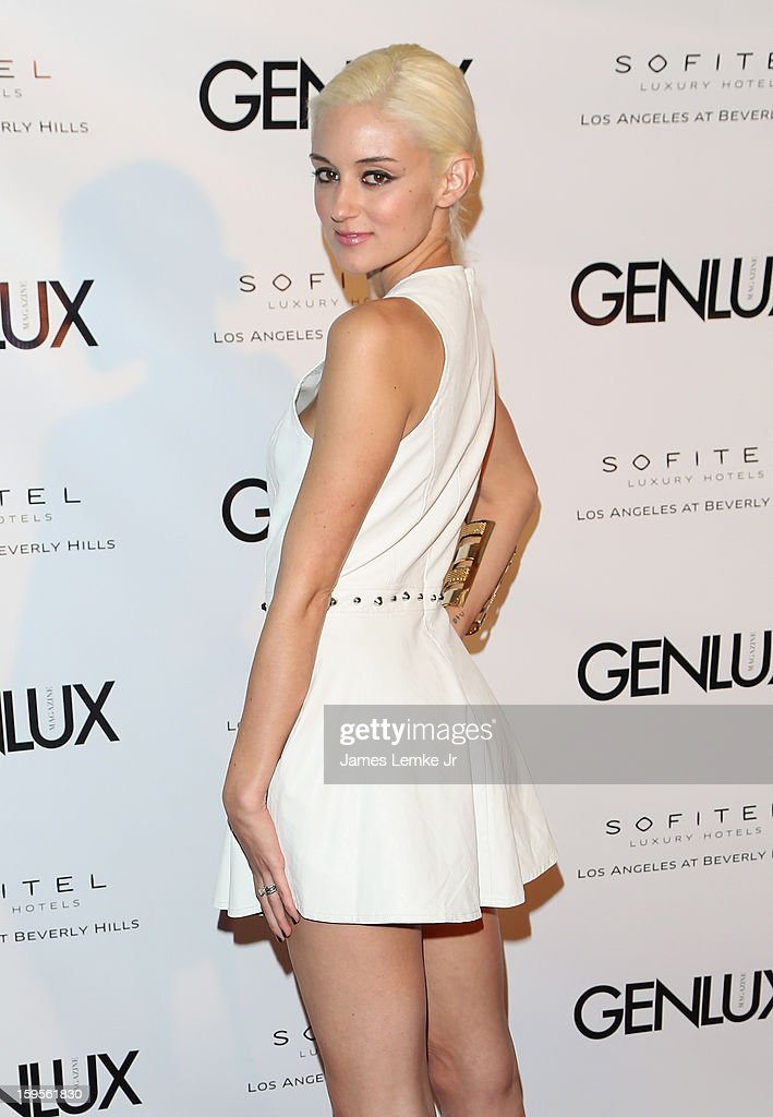 Caroline D'Amore attends the Genlux Cover Girl Kristin Chenoweth Celebrates Opening of new bar Riviera 31 at The Sofitel L.A. on January 15, 2013 in Beverly Hills, California.