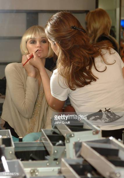 Caroline D'Amore backstage at Meghan Fall 2006 during MercedesBenz Fall 2006 LA Fashion Week at Smashbox Studios Meghan Backstage at Smashbox Studios...