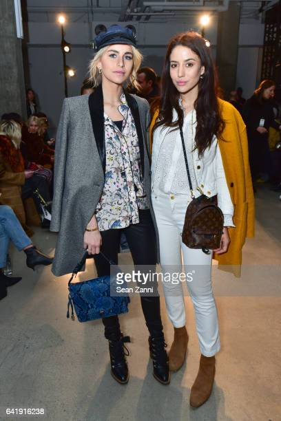 Caroline Daur and Tamara Kalinic attends the Zadig Voltaire show during New York Fashion Week at Skylight Modern on February 13 2017 in New York City