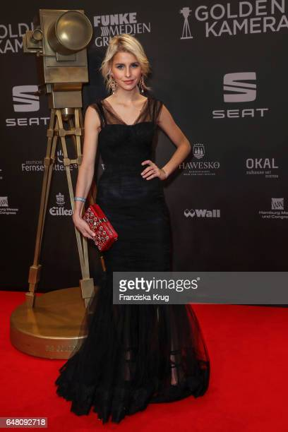 Caroline Daur arrives for the Goldene Kamera on March 4 2017 in Hamburg Germany