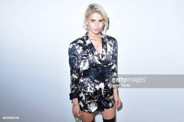 Caroline Daur attends the Balmain Menswear Spring/Summer 2018 show as part of Paris Fashion Week on June 24 2017 in Paris France
