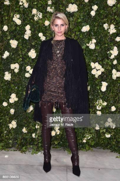 Caroline Daur attends the Balmain show as part of the Paris Fashion Week Womenswear Spring/Summer 2018 on September 28 2017 in Paris France