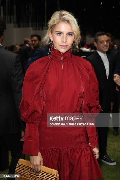 Caroline Daur attends the Dior Homme Menswear Spring/Summer 2018 show as part of Paris Fashion Week on June 24 2017 in Paris France