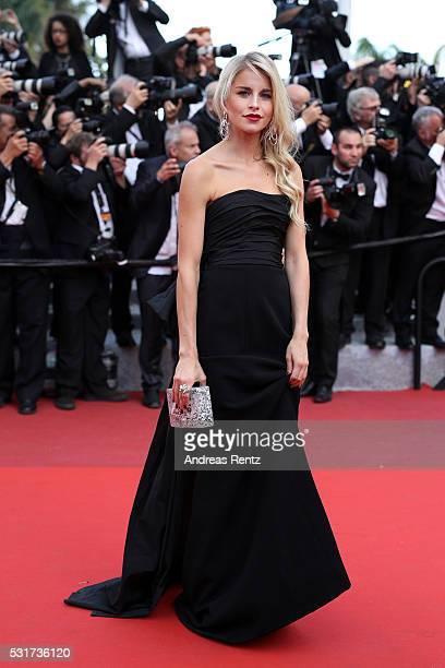 Caroline Daur attends the 'Loving' premiere during the 69th annual Cannes Film Festival at the Palais des Festivals on May 16 2016 in Cannes France