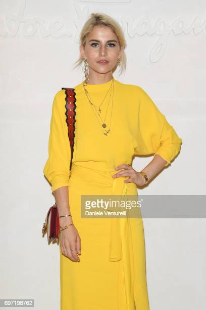 Caroline Daur attends the Salvatore Ferragamo show during Milan Men's Fashion Week Spring/Summer 2018 on June 18 2017 in Milan Italy
