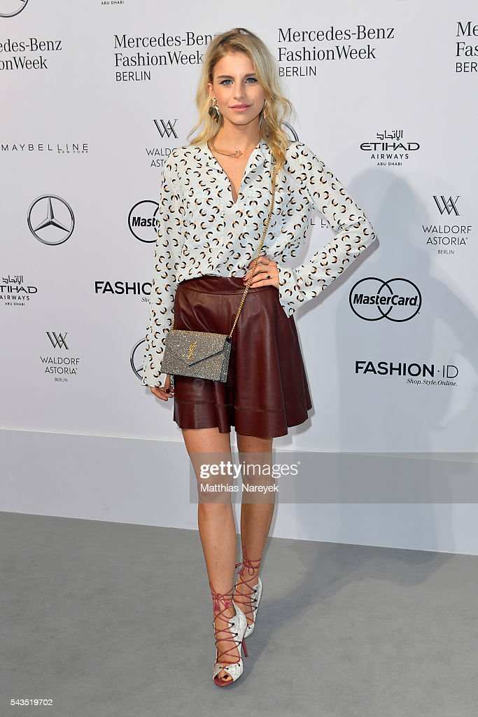 Caroline Daur attends the Sportalm show during the Mercedes-Benz Fashion Week Berlin Spring/Summer 2017 at Erika Hess Eisstadion on June 29, 2016 in Berlin, Germany.