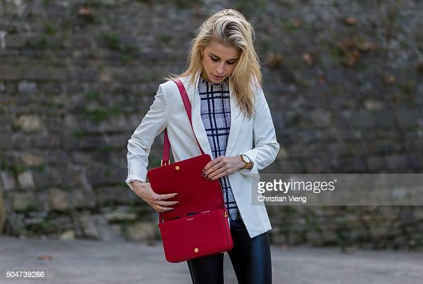 Caroline Daur during Pitti Uomo 89 on January 12 in Florence Italy