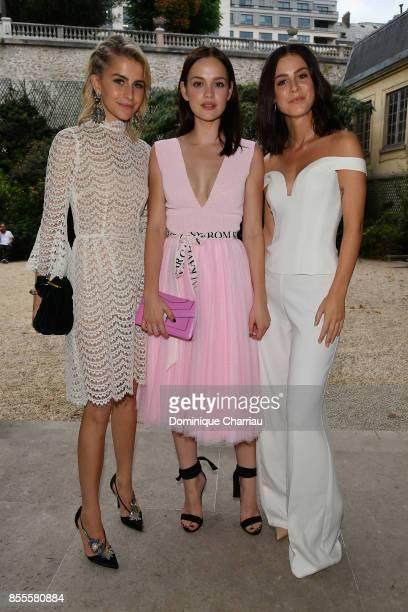 Caroline Daur Emilia Schule and Lena MeyerLandrut attend the Kaviar Gauche Bridale Couture Collection 2018 'La Vie En Rose' as part of the Paris...
