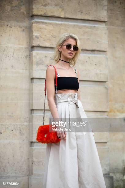 Caroline Daur outside the Dior show on March 3 2017 in Paris France