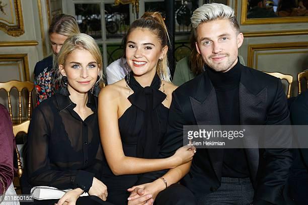 Caroline Daur Stefanie Giesinger and Markus Butler attend the Kaviar Gauche show as part of the Paris Fashion Week Womenswear Spring/Summer 2017 on...