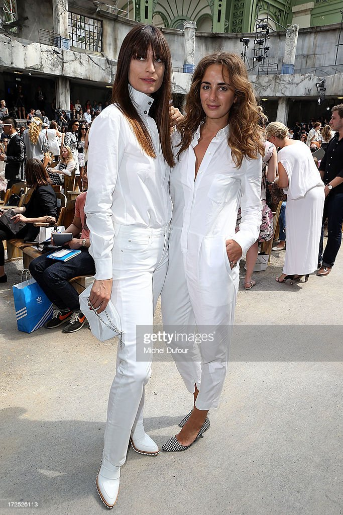 Caroline de Maigret and Alexia Niedzielski attend the Chanel show as part of Paris Fashion Week Haute-Couture Fall/Winter 2013-2014 at Grand Palais on July 2, 2013 in Paris, France.