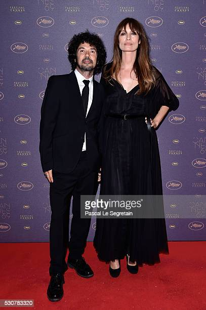 Caroline de Maigret and Yarol Poupau arrive at the Opening Gala Dinner during the 69th Annual Cannes Film Festival on May 11 2016 in Cannes France