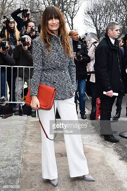 Caroline de Maigret arrives at Chanel Fashion Show during Paris Fashion Week Fall Winter 2015/2016 on March 10 2015 in Paris France