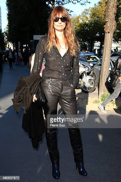 Caroline de Maigret arrives at the Anthony Vaccarello show as part of the Paris Fashion Week Womenswear Spring/Summer 2016 on September 29 2015 in...