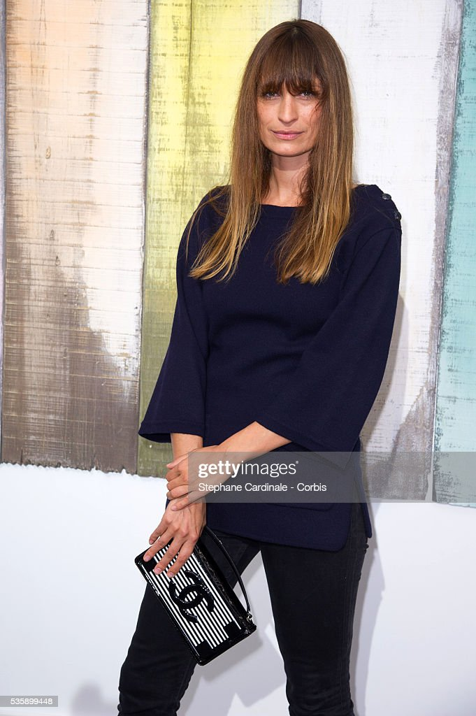 Caroline de Maigret attends Chanel show, as part of the Paris Fashion Week Womenswear Spring/Summer 2014, at the Grand Palais in Paris.
