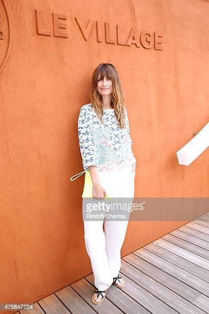 Caroline de Maigret attends the 2015 Roland Garros French Tennis Open Day Twelve on June 4 2015 in Paris France