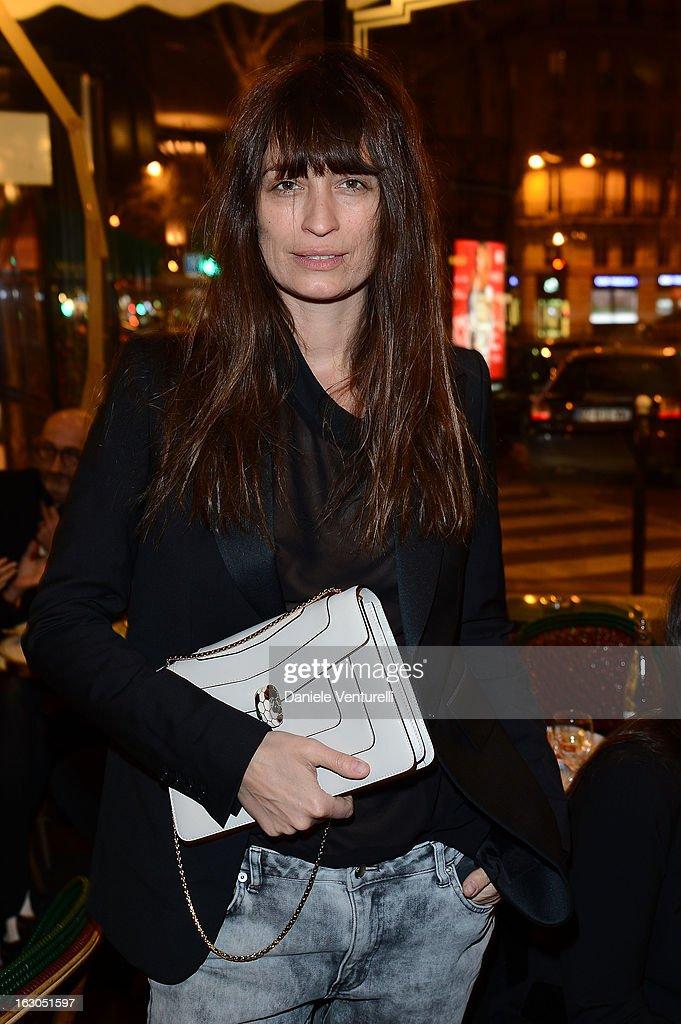 Caroline de Maigret attends the Bulgari And Purple Magazine Party at Cafe de Flore on March 3, 2013 in Paris, France.
