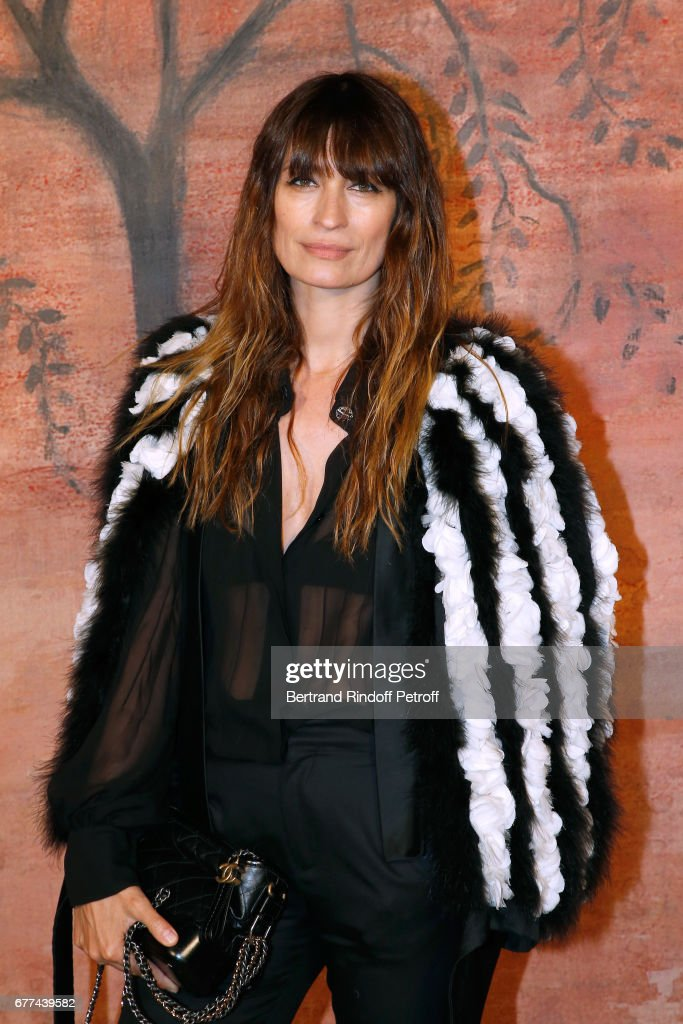 Caroline de Maigret attends the Chanel Cruise 2017/2018 Collection Show - Photocall. Held at Grand Palais on May 3, 2017 in Paris, France.