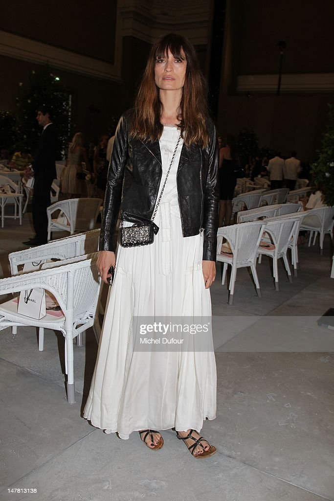 Caroline de Maigret attends the Chanel Haute-Couture Show as part of Paris Fashion Week Fall / Winter 2013 at Grand Palais on July 3, 2012 in Paris, France.